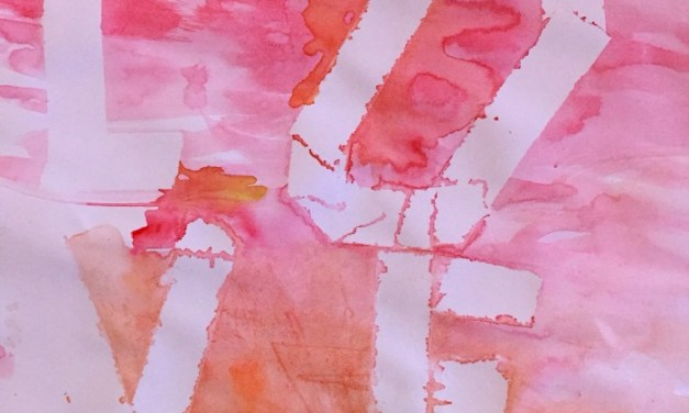 How To: Toddler's Watercolour LOVE Picture Gift