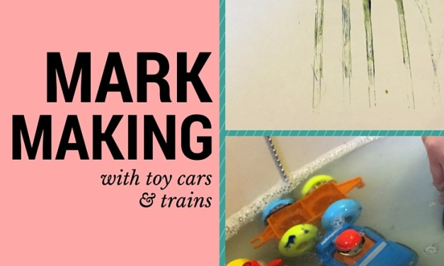 Mark Making with Cars and Trains