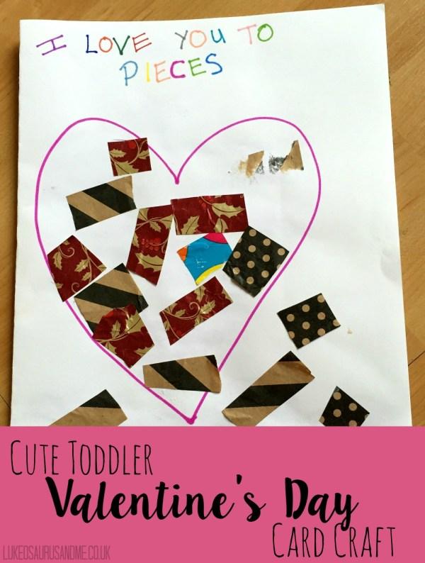 Toddler Valentines Day Card Craft at https://lukeosaurusandme.co.uk