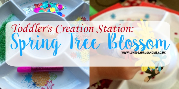 spring blossom creation station at www.lukoeusaurusandme.co.uk