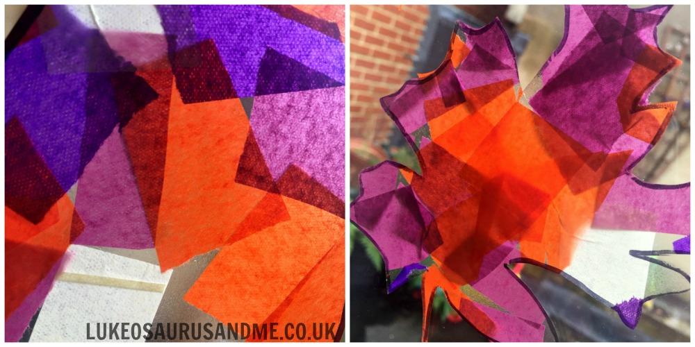 Tissue Paper Autumn Leaves at http://lukeosaurusandme.co.uk