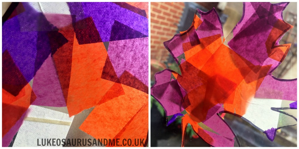 Tissue Paper Autumn Leaves at https://lukeosaurusandme.co.uk