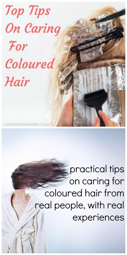 How to care for coloured hair at https://lukeosaurusandme.co.uk