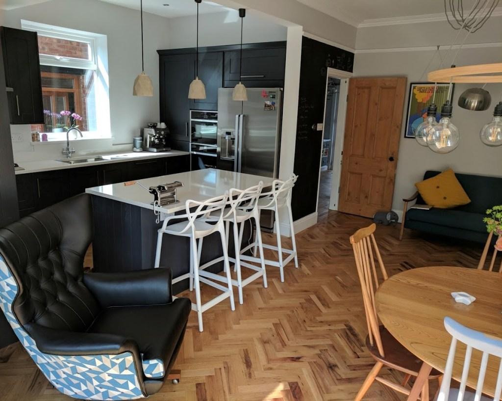 Herringbone Parquet flooring and 4 other Interior Design Trends I Love for 2018 at http://lukeosaurusandme.co.uk
