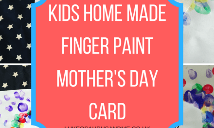 Craft: Kids Home Made Mother's Day Card