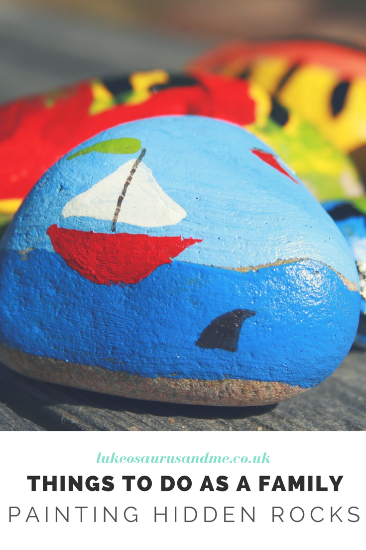 Things to do as a family that get your kids outdoors and active! Rock Painting is great fun for all the family. https://lukeosaurusandme.co.uk