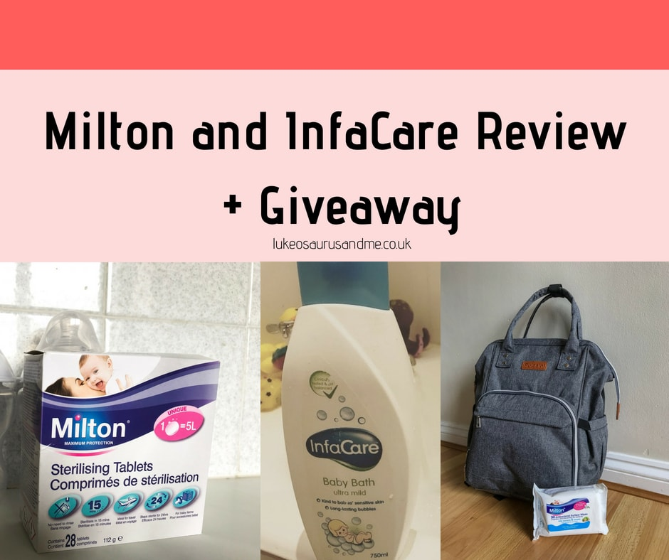 Milton Sterilising Tablets, Antibacterial Surface Wipes and InfaCare Baby Bath Review and Giveaway at https://lukeosaurusandme.co.uk