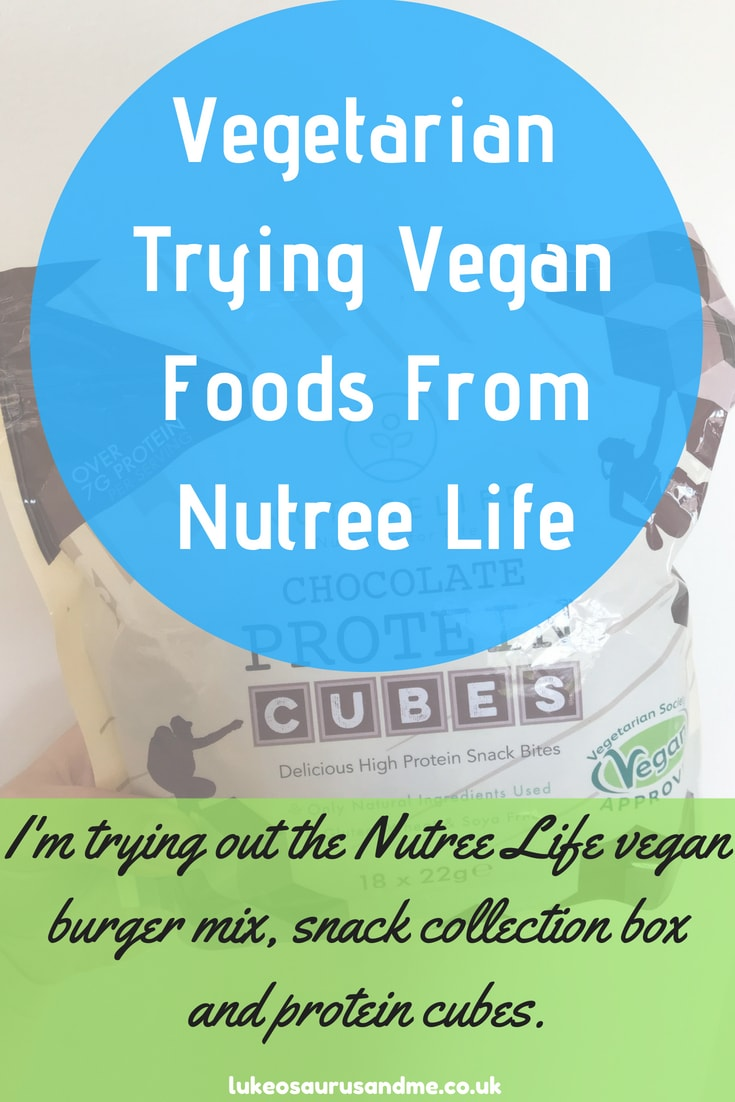 Nutree Life Vegan Burger Mix and Chocolate Protein Cubes review at https://lukeosaurusandme.co.uk