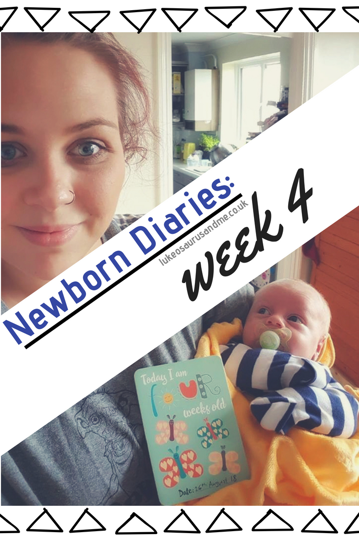 Newborn Diarires: Weeks 4 at https://lukeosaurusandme.co.uk