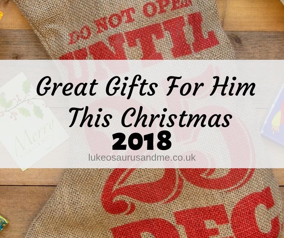 Great Gifts For Him This Christmas at https://lukeosaurusandme.co.uk