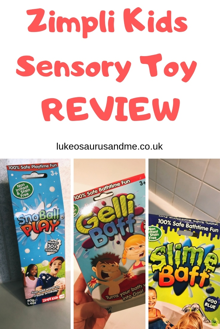Sensory bath play with Gelli Baff and Slime Baff from Zimpli Kids at https://lukeosaurusandme.co.uk