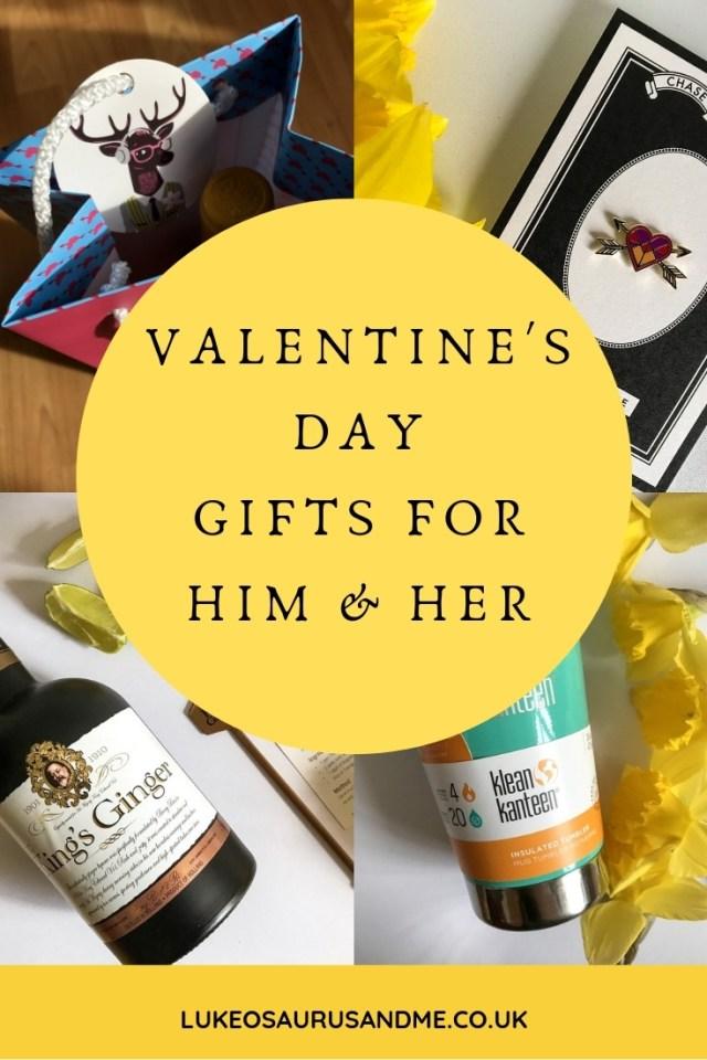 Valentine's Day Gift Ideas For Him and For Her at hhtps://lukeosaurusandme.co.uk
