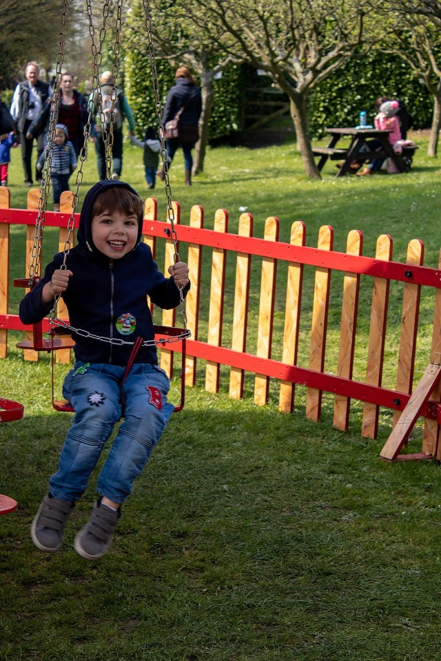 Luke on the vintage fun fair rides at Day Out With Thomas on the Watercress Line. Read full review at https://lukeosaurusandme.co.uk