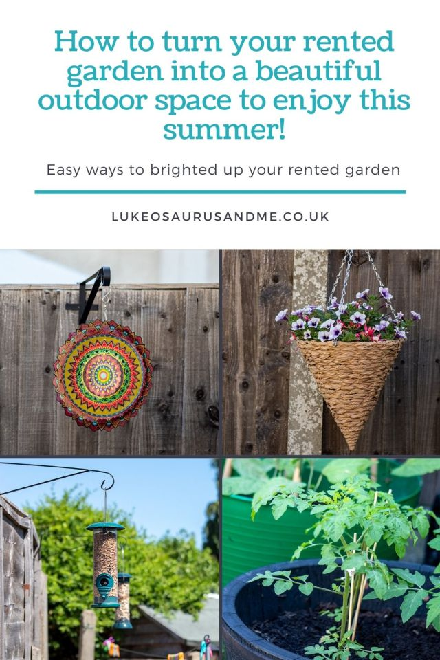 How to turn your rented garden into a beautiful space to enjoy this summer pinterest image