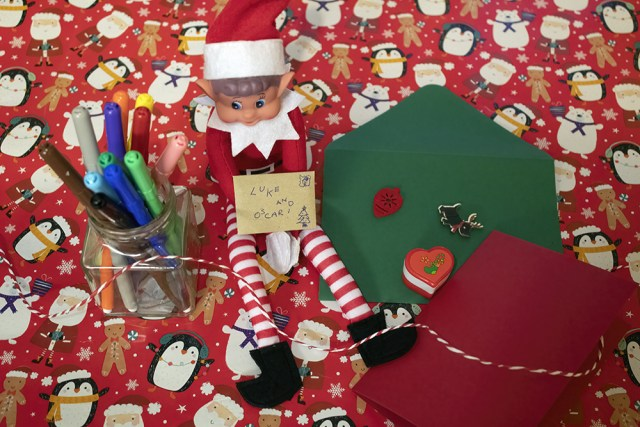 Elf On The Shelf christmas card making