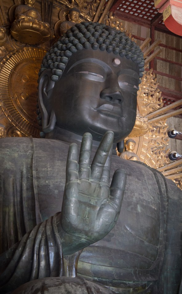 15m tall Bronze Buddha, Todaiji Temple, Nara Park