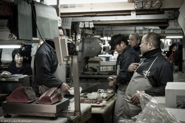 Taking a break, Tsukiji Fish Market