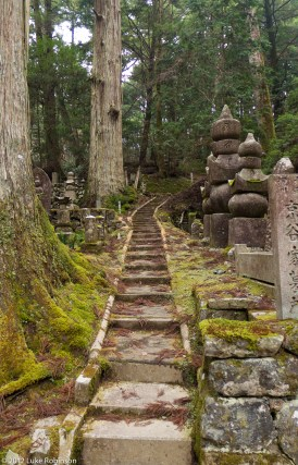 Graveyard steps, Oku-no-in Cemetery, Koya-san
