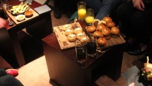 Nouveau Lashes Food Table