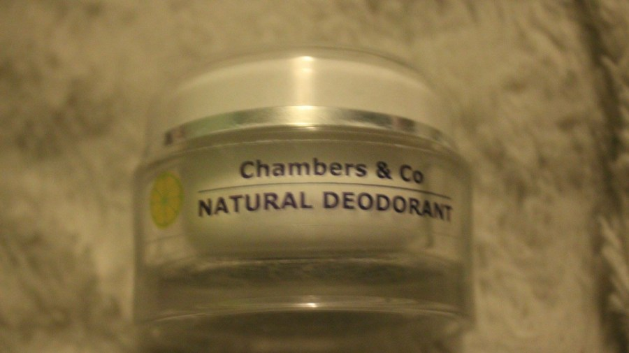 a picture of a tub of Chambers and Co Natural Deodorant Cream.