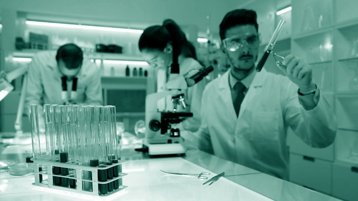 Photo of scientists in lab