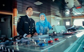 foto prewedding di kapal angkatan