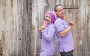prewedding hijab fun