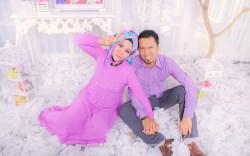foto maternity simple indoor berhijab