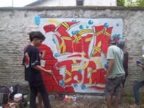 Gambar lukisan mural, grafiti atau lukisan dinding 036