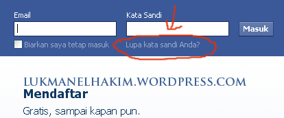 klik lupa password