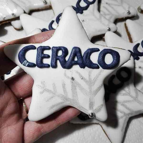 ciasteczka bożonarodzeniowe z logo, lukrowane ciasteczka, ciasteczka dla firm,