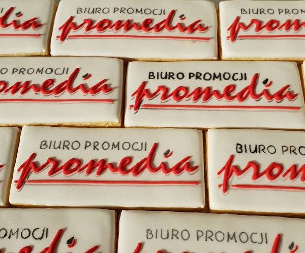 ciastka reklamowe, Lukrowane pierniczki z logo firmy, ciasteczka ciastka dla firm, Promedia - Basia sweets