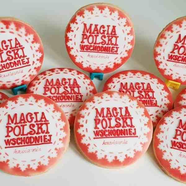 Lukrowane pierniczki z logo firmy, ciastka bożonarodzeniowe dla firm, Magia Polski Wschodniej - Basia sweets