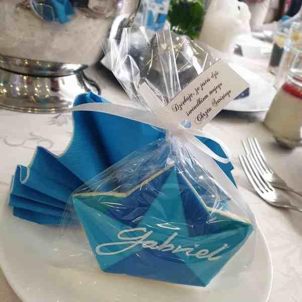 podziękowania na chrzest, ciasteczka na chrzest, lukrowane ciasteczka zaproszenia Basia sweets
