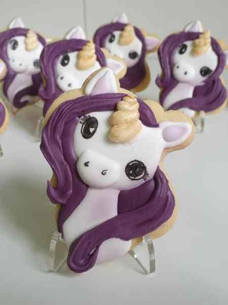 Lukrowane ciasteczka dla dziewczynek, Jednorożce, upominki dla dzieci Basia sweets