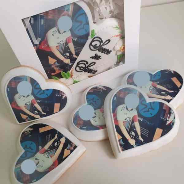 ciasteczka z nadrukiem, ciastka ze zdjęciem, podziękowania dla gości, Basia sweets