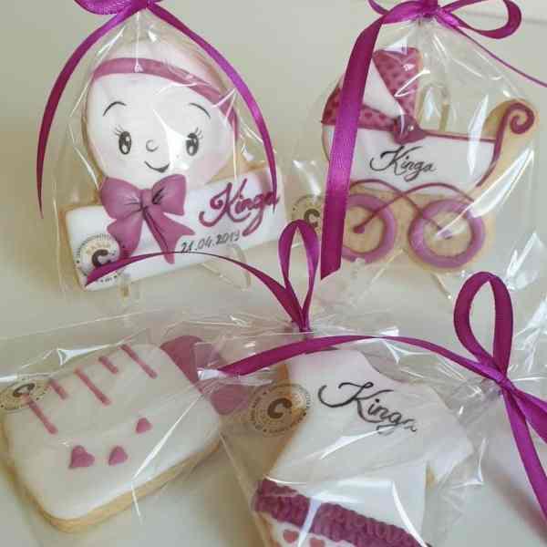 Zestaw ciasteczek na chrzest, prezent na chrzest, ciasteczka na chrzest, lukrowane ciasteczka - Basia sweets