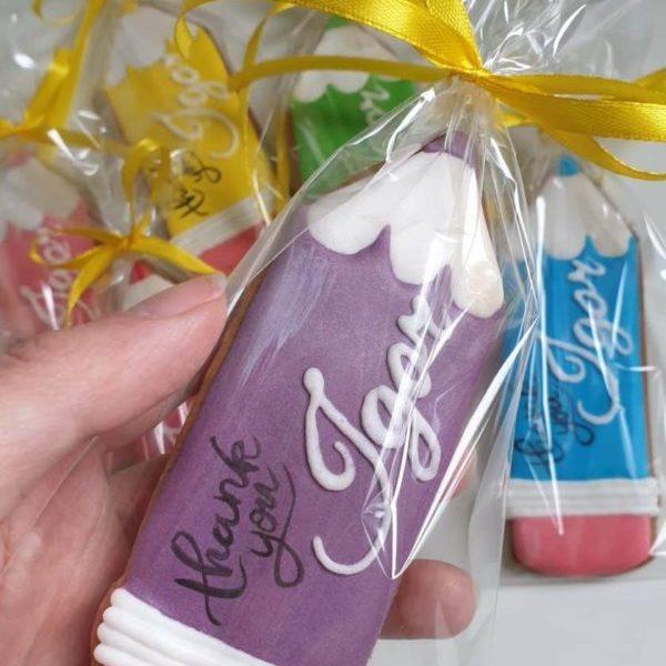 Koniec roku szkolnego, podziękowanie dla nauczyciela, pierniczki dla nauczyciela, lukrowane pierniczki - Basia sweets