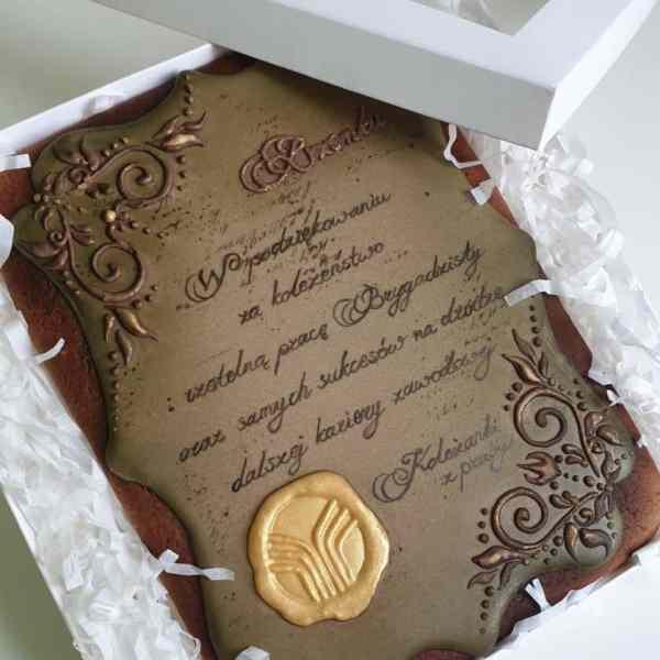 Pierniki dekoracyjne, podziękowania dla rodziców, dyplom z piernika, lukrowane pierniczki - Basia sweets