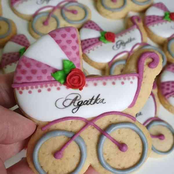 Podziękowania dla gości chrzest, ciasteczka na chrzest, podziękowania dla gości, lukrowane ciasteczka - Basia sweets