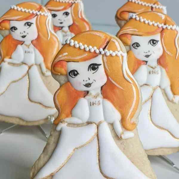 Ciasteczka na komunię, podziękowania komunijne, ciastka komunijne, lukrowane ciasteczka na zamówienie - Basia sweets