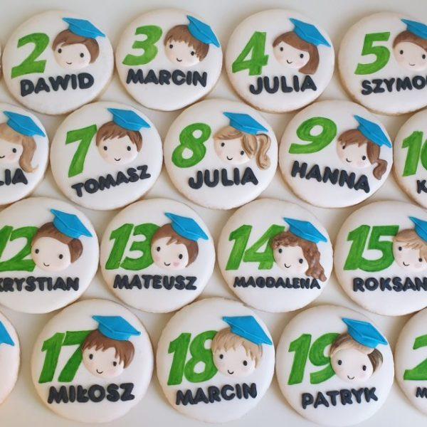 Koniec roku szkolnego, podziękowania dla nauczycieli, personalizowane ciasteczka Basia sweets