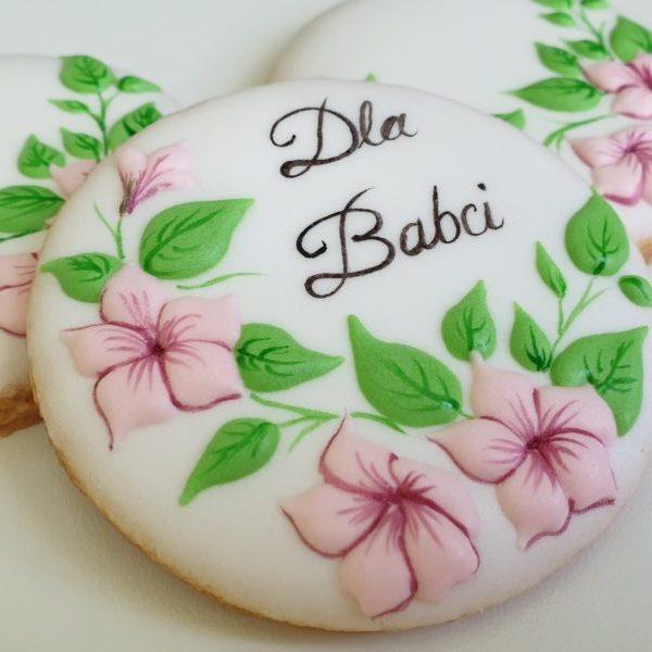 ciasteczka okazjonalne, ciasteczka dla Babci, lukrowane ciasteczka Basia sweets