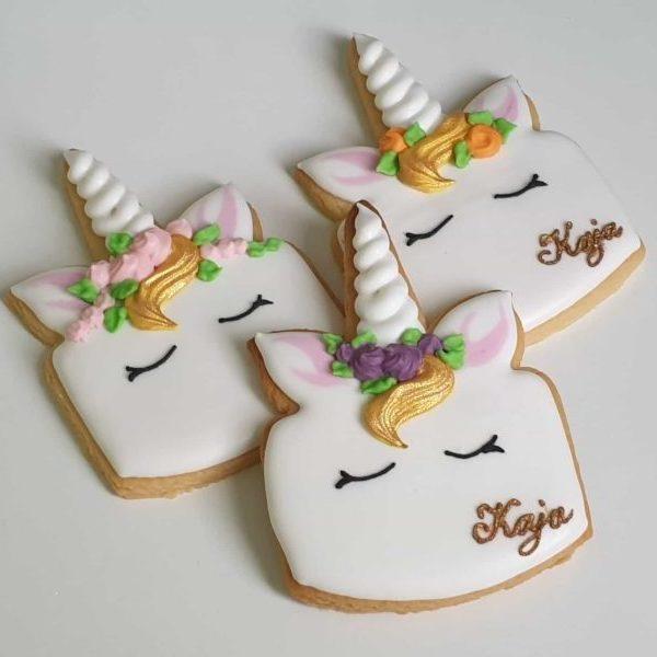 jednorożce, ciasteczka jednorożce, upominki dla gości urodzinowych, lukrowane ciasteczka urodzinowe Basia sweets
