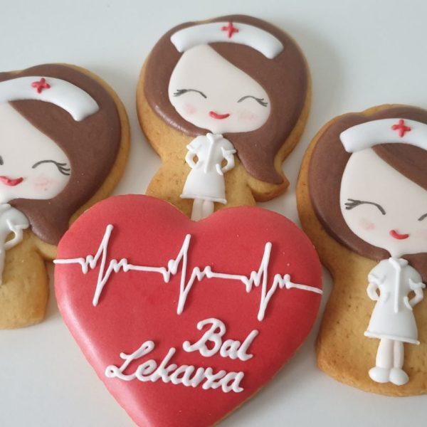 podziękowania dla lekarza, dla lekarza, bal lekarza, lukrowane ciasteczka pielęgniarka - Basia sweets