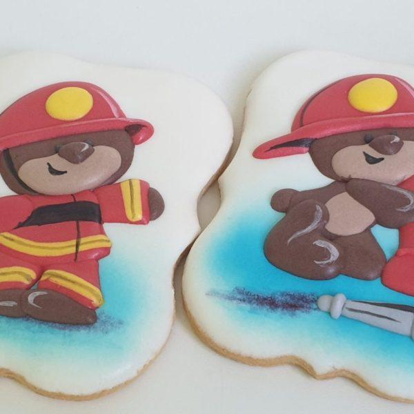 ciasteczka strażackie, dla strażaka, lukrowane ciasteczka tematyczne Basia sweets