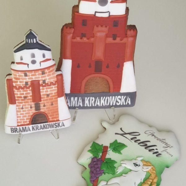 pierniki lubelskie, Lublin, pierniki pamiątkowe, Brama Krakowska, ręcznie lukrowane pierniki - Basia sweets
