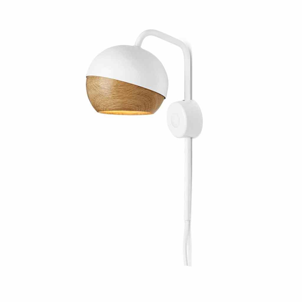 Vegglampe: Ray Vegglampe Hvit - Mater