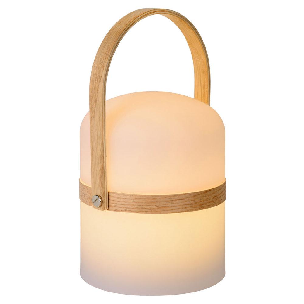 Bærbar LED-bordlampe Joe til inne og ute