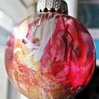 Metallic Alcohol Ink Ornaments